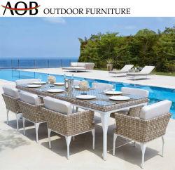 Modernes im Freiengarten-Patio-Hotel-Gaststätte-Rattan 8 Seater Speisetisch-Möbel-Sets