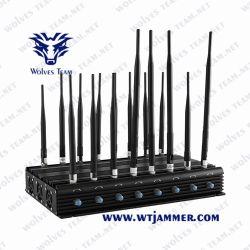14 antennes Indoor WiFi GPS 3g 4g 5g cellule GSM RF à distance de voiture Bluetooth Lojack signal brouilleur de téléphone mobile