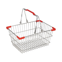 Cestino di acquisto pieghevole di plastica del supermercato piccolo con la maniglia