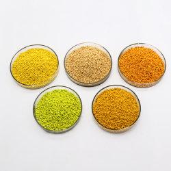 Vierge de résines de plastique de couleur jaune Masterbatch /granulés pour PE PP PVC EVA PC PS ABS HDPE PMMA LDPE Pet TPU PA