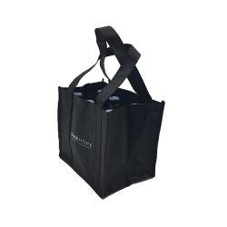 جيّدة يبيع رف أسود غير يحاك [توتا] حقيبة عيد ميلاد المسيح خمر هبة تخزين يعبّئ حقيبة