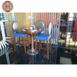 Siège de contreplaqué de haute qualité moderne Simple Beauty Bar chaise avec des selles en acier inoxydable pour restaurant