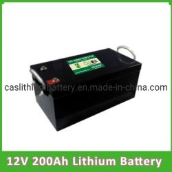 Fosfato de ferro lítio Ciclo profunda 12V da bateria 24V 48V 200Ah Bateria Solar LiFePO4 Baterias de Lítio Recarregável