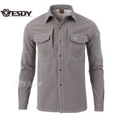 戦術的な防風の暖かい通気性のSoftshellのワイシャツの羊毛の屋外の摩耗