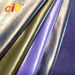 Pearlized влажных PU кожа для одежды