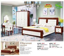 Современный дизайн популярной деревянные кровати для взрослых номер набора