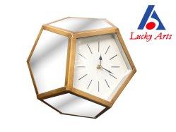 ミラーが付いているPolyhedral形の置時計