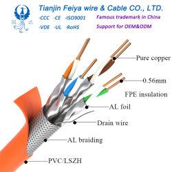 LAN Cat3 Cat5 Cat5e CAT6 CAT6A Cat7 Ethernet van het voorzien van een netwerk Draad van het Koord van het Flard van 25 Paar van de Gegevens van de Prijs van het Koper 23AWG van FTP SFTP van de Kabel UTP van het Netwerk de Openlucht Gepantserde Verdraaide RJ45