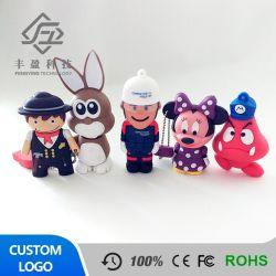 Vario azionamento dell'istantaneo del USB del PVC 4GB del materiale di tocco morbido di figure del fumetto