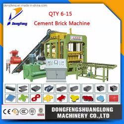 Konkreter hohler Block Qt6-15/Ziegeleimaschine, die blockierenziegelsteine in Bangladesh pflastert