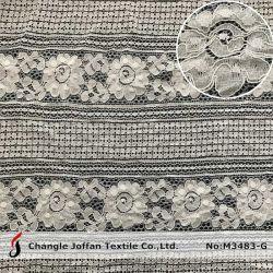 Tissu Guipuer broderie dentelle de coton de tissu de la Dentelle de gros (M3483-G)