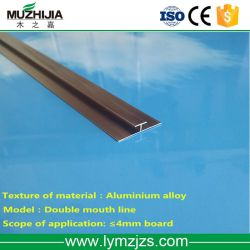 Profil en aluminium pour le PVC en faux marbre moulure de garniture de tuiles