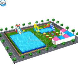 Projet de parc d'Attractions gonflables de plein air, terre eau gonflable Park / Enfants et adultes Inflatable Sports nautiques
