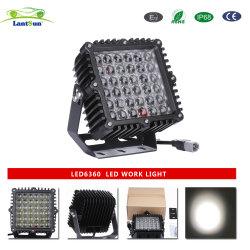 LED6360 바다 차 Exc를 채광하는 스포츠 공용품 4WD 4X4를 위한 까만 알루미늄 주거 IP68 DC10-30V 9inch 360W 정연한 LED 모는 빛
