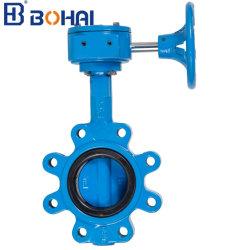 Oblate-Typ zerrte duktiles Eisen/Wcb/Edelstahl-Magnetspule-pneumatisches Stellzylinder-EPDM ausgekleidetes industrielles Steuerbasisrecheneinheits-Wasser-Ventil