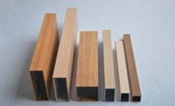 [شنس] صنع وفقا لطلب الزّبون ألومنيوم أنبوب خشبيّة حبة مربّع ألومنيوم أنبوب