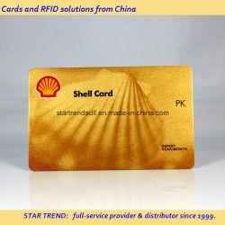 Carte d'or scintillant - PVC carte avec Metallic Gold
