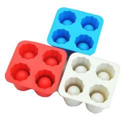 Bandeja de cubos de gelo de Silicone Maker / Congelar Cup Molde / 4PCS em concha da bandeja de gelo de Silicone
