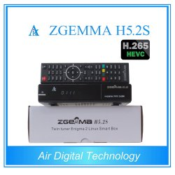 Meilleurs Hot Vente Hevc H. 265/DVB-S2+S2 Twin Tuners Sat Zgemma H5.2s Dual Core Linux OS E2 du récepteur numérique
