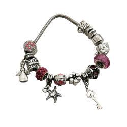 Cute perlé Bracelet couleur faite de métal