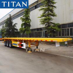 2/3/4 essieux 20ft 40FT Conteneur 45pieds/UTILITY/cargo scanner à plat/plate-forme extensible Pan lit plat tracteur semi-remorque de camion par la Chine Fabricant véhicule Titan