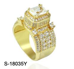 Modischer Schmuck 925 Sterling Silver oder Brass Cubic Zirconia Hip Hop Ring für Frauen