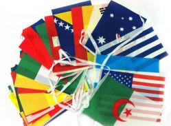 OEM-PE полиэстер национальных баннер Строка предупреждения флага флаг