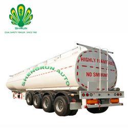 Milieu populaire du marché asiatique 4 essieux réservoir d'huile en acier au carbone semi-remorque