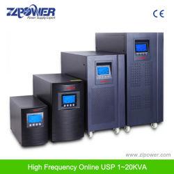 Affichage LCD simple phase Smart onduleur en ligne de communication RS232 6kVA