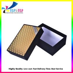 2019 Nouvelle conception du caisson de nettoyage d'or de l'emballage en carton rigide de chaussettes de papier d'emballage Boîte avec couvercle et base