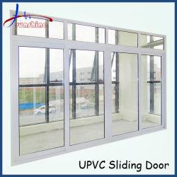 Vier Panel-Entwurfs-Plastikrahmen-Doppeltes glasig-glänzende Türen