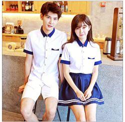 L'école secondaire coréenne des jeunes filles l'école Vêtements élevé et uniforme de la jupe