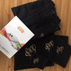 Baumwollwaffel-Bad-Bademantel-und Bad-Tuch-Set mit kundenspezifischer Farbe und Firmenzeichen