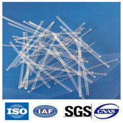 ألياف اصطناعية منقوشة مقربة تستخدم للتشييد الخرساني PP Macro الألياف الكيميائية