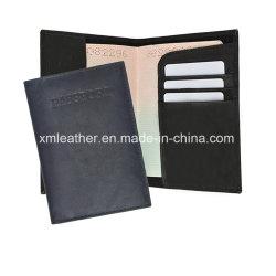 Bilhete de viagem em couro PU unissexo Wallet passaporte do titular do documento