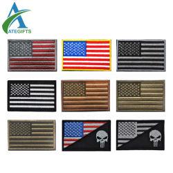 Het Flard van het Borduurwerk van de Armband van de Vlag van de Steun van de V.S. Amerika