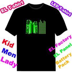 EL T-shirt Painel Eletroluminescentes T-shirt T-shirt Equalizador Ef133