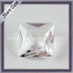 5 مم مربع أبيض قطع الأميرة قطع الزجاج الخرز لجيوليري