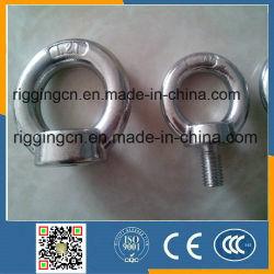 Venta caliente de acero inoxidable pulido Aparejo cáncamo DIN 580 para Accesorios marinos Máquina con hombro