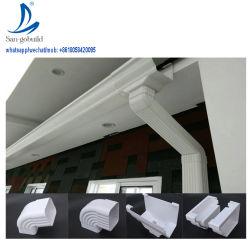 Sistema de desagüe de plástico Tubo de PVC y adaptadores de plástico de PVC canalones de lluvia El agua de lluvia Collector