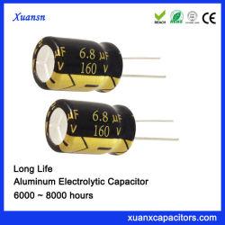 105º Gut-Aluminiumtyp des c-lange Lebensdauer-elektrolytischen Kondensator-6.8UF160V