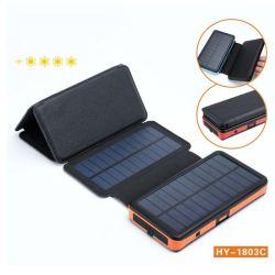 자기 흡수 무선 충전 태양광 이동식 전력 20, 000mA 충전기