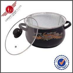 Umweltfreundliche Küchenbedarf-Decklackcookware-Soße-Wanne mit Glaskappe