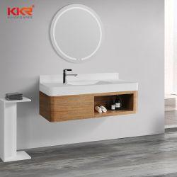 LEDミラーによってセットされる現代壁によってハングさせる人工的な石造りの浴室の虚栄心の流しのキャビネット