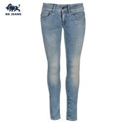 Леди классический средний рост растянуть Skinny Голубые джинсы