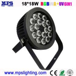 段階の照明のための屋外18*18W Rgbwauv細いLEDの同価ライト