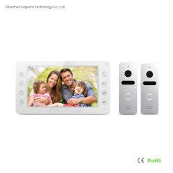Accueil téléphone appareil photo porte vidéo de sécurité de sonnette Système d'interphone pour Villa7 pouces de téléphone de la porte de la vidéo