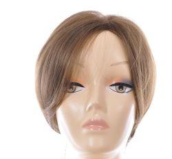 "8"" de monofilamento de peluca corta la parte superior de la Seda artificial de mejor calidad Kanekalon fibra sintética Auburn estilo Bob"