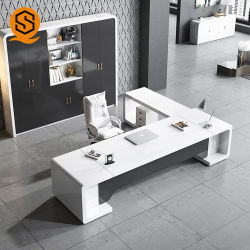 Le luxe du mobilier de bureau de la pierre artificielle Surface solide ordinateur Table Office