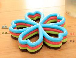 Циновка/пусковая площадка чашки силикона промотирования с циновками кофейной чашки шнурка